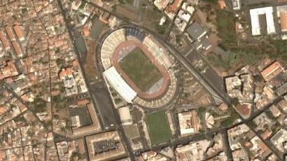Lo stadio Angelo Massimino visto dal Satellite