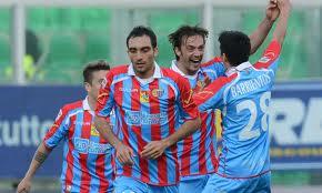 giocatori in festa dopo il gol segnato al Palermo